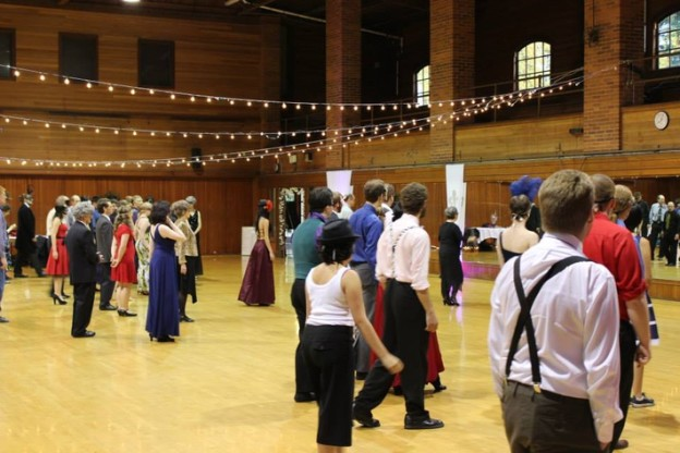 Laura Teaching a Beginning Waltz Class at the University of Oregon for the Oregon Ballroom Dance Club – Formal Masquerade Ball